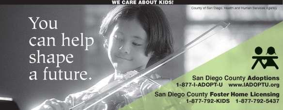 San Diego County Adoptions Ad