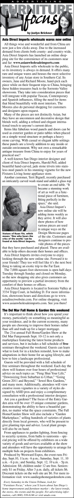 Furniture Focus Column 1